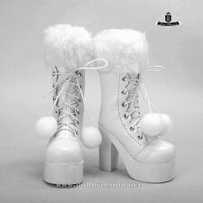 1/3 BJD Boots Supper Dollfie Dod MID EID SOOM LUTS DZ Shoes Snow white Boots 280