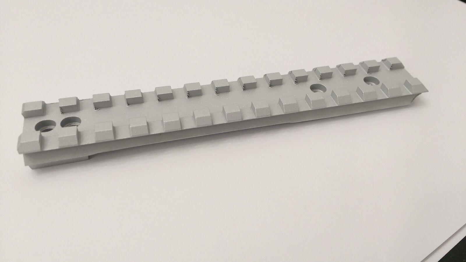 Carril Picatinny-Ruger Precission Gen 3 SA (Plateado) de 0 a 70 Moa mil
