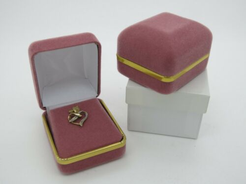 Charm Box Pink Velvet With Metal Gilt Trim Jewellery Presentation Case
