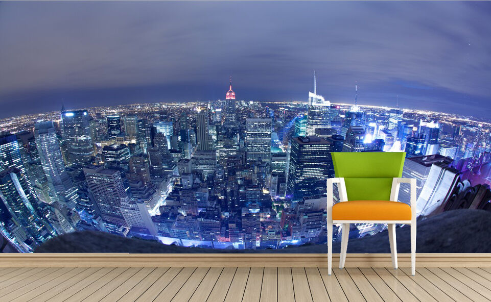 3D City Lights View 1423 Paper Wall Print Decal Wall Wall Murals AJ WALLPAPER GB