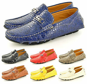 Hombre-Informal-Mocasines-Sin-Cordones-Conduccion-Zapatos-en-RU-Talla-7-8-9-10