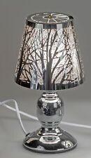 30cm creme silber Metall Versa Home Tischlampe VIERFUß H 59cm D
