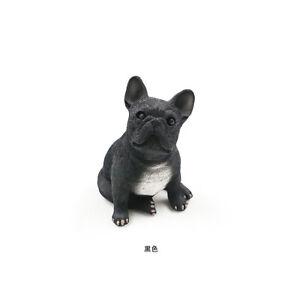Resin-MINI-French-Bulldog-dog-Hand-Painted-simulation-model-Statue-BLACK
