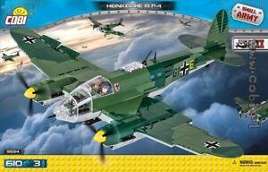 COBI-Heinkel-He-111-P-4-5534-610-blocks-WWII-Small-Army-German-bomber-plane