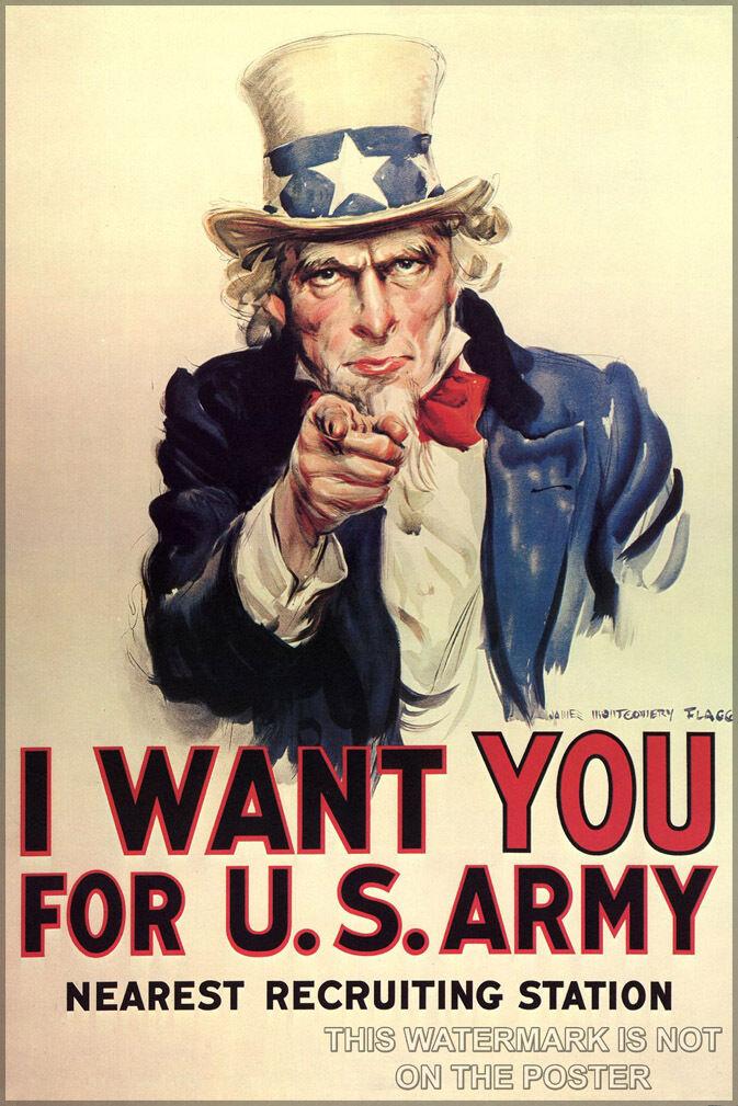 Poster, Molte Misure; Misure; Misure; Zio Sam i Want You per Us Army e3a2bf