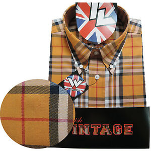 Warrior-UK-England-Button-Down-Shirt-LYDON-Hemd-Slim-Fit-Skinhead-Mod-S-5XL