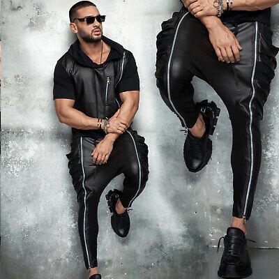 By Alina Uomo 2-divisorio T-shirt Fitness Boyfriend Jogging Pantaloni Pelle Look S-xl-mostra Il Titolo Originale Acquista Sempre Bene