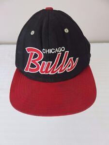 Mitchell   Ness Men s Chicago Bulls Black   Red Snapback Adjustable ... 97b040099ebc