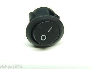 encendido Interruptor 10a Nuevo 12v Redonda Negra de apagado