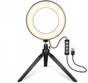 LED 6\10\ Ringlicht Ringleuchte Lampe Fotolicht Handyhalter Selfie mit Stativ DE