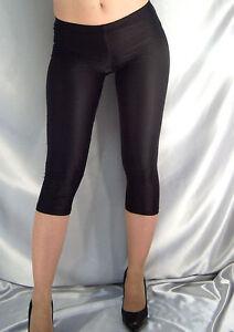 dd0de2cf7c475 SHORT BLACK SHINY OPAQUE THIN SPANDEX LEGGINGS MF510 XS-XXXL Tall   eBay