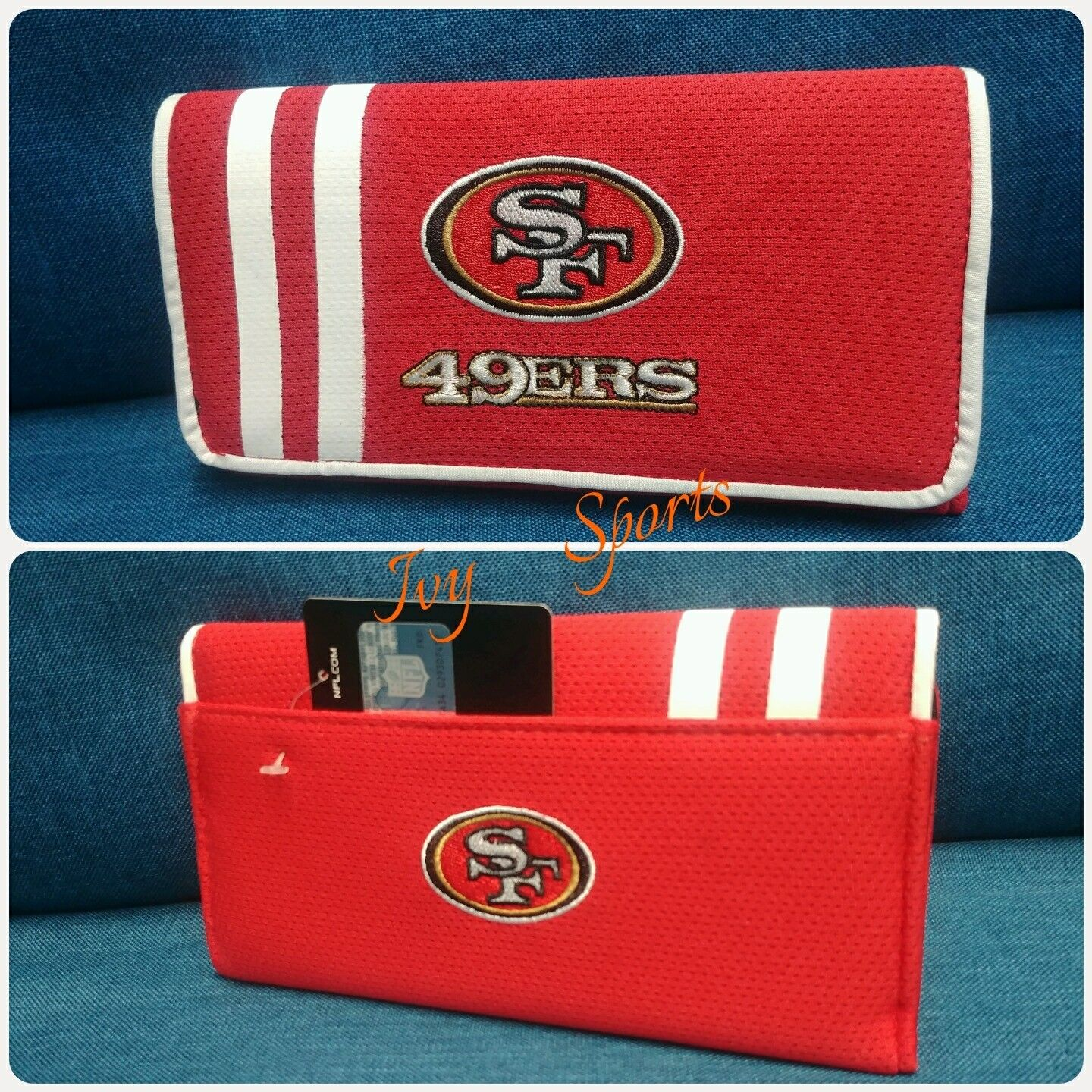 NFL 49ers San Francisco 49ers NFL Bowler Purse with Organizer Mesh Wallet 2018 *Nuovo* f1e2d6