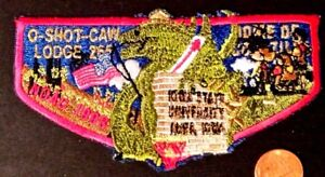 O-SHOT-CAW-LODGE-265-SOUTH-FLORIDA-FL-PATCH-1998-NOAC-RED-DELEGATE-FLAP-GODZILLA