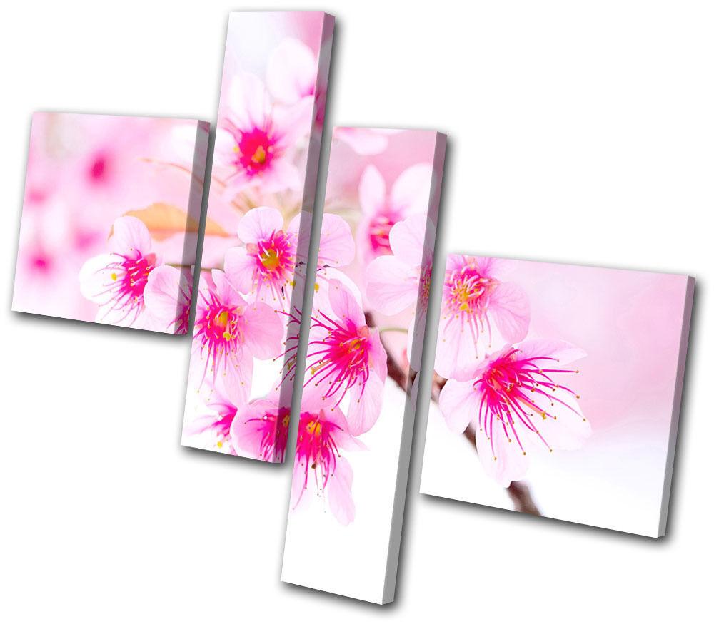 Floral Cherry Blossoms MULTI TELA parete arte foto stampa stampa stampa 9b324a