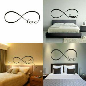 Love-Unendlichkeit-Wandtattoo-entfernbarer-Aufkleber-DIY-Wandmalerei-DekorP-U3F2