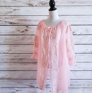 Vintage-60s-Double-Layer-Chiffon-Lace-Peignoir
