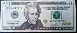 BILLET-DE-20-DOLLARS-Excellent-Etat-Envoi-Gratuit