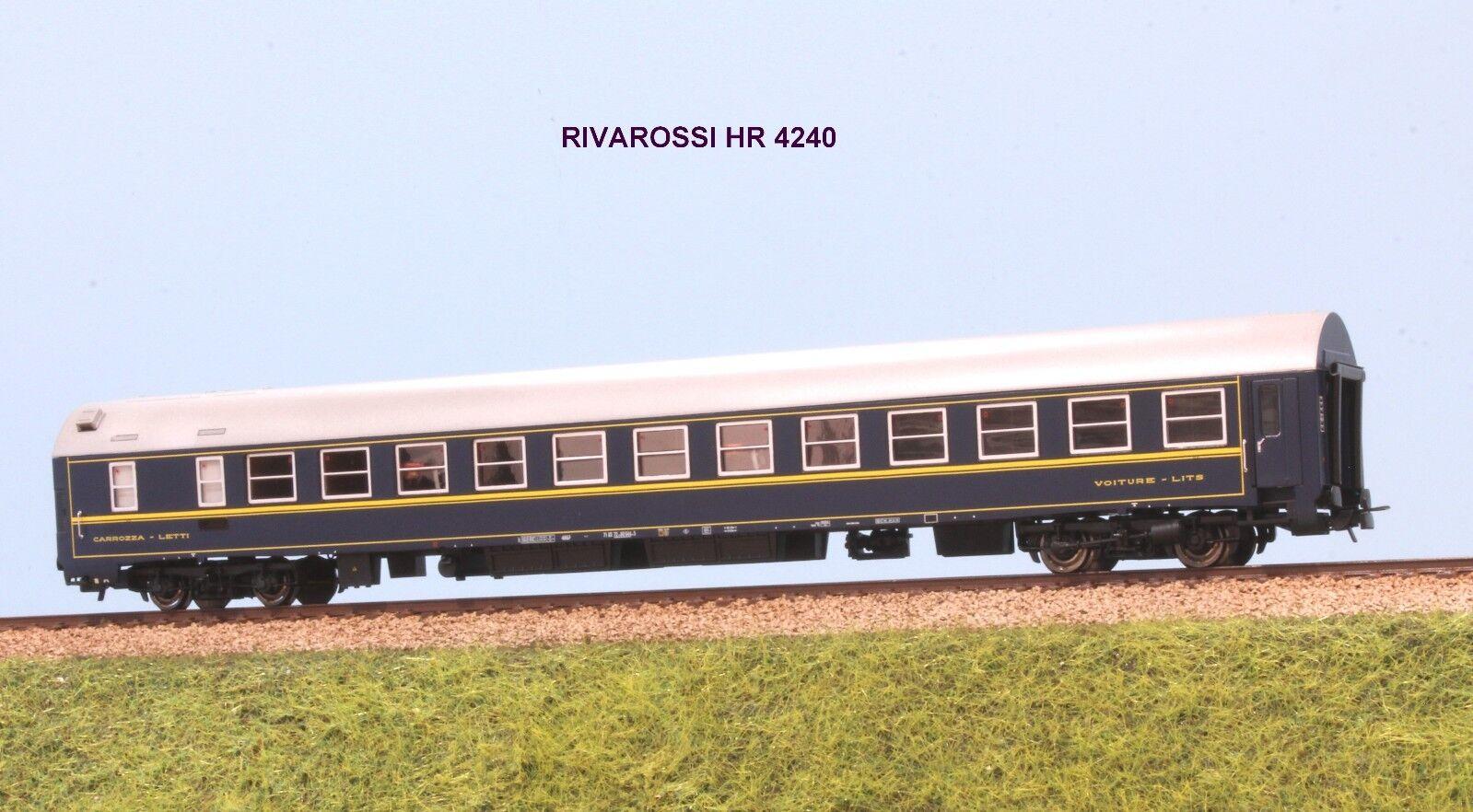 RIVAROSSI HR 4240 FS carrozza letti tipo MU 1973 livrea livrea livrea bluee CIWL 32dcc1