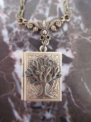 Tree of Life Handmade Photo Locket Chain Necklace-Wicca Jewish Boho