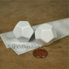 NEW 2 Blank 25mm D12 Twelve Sided Dice with Stickers D&D RPG Game