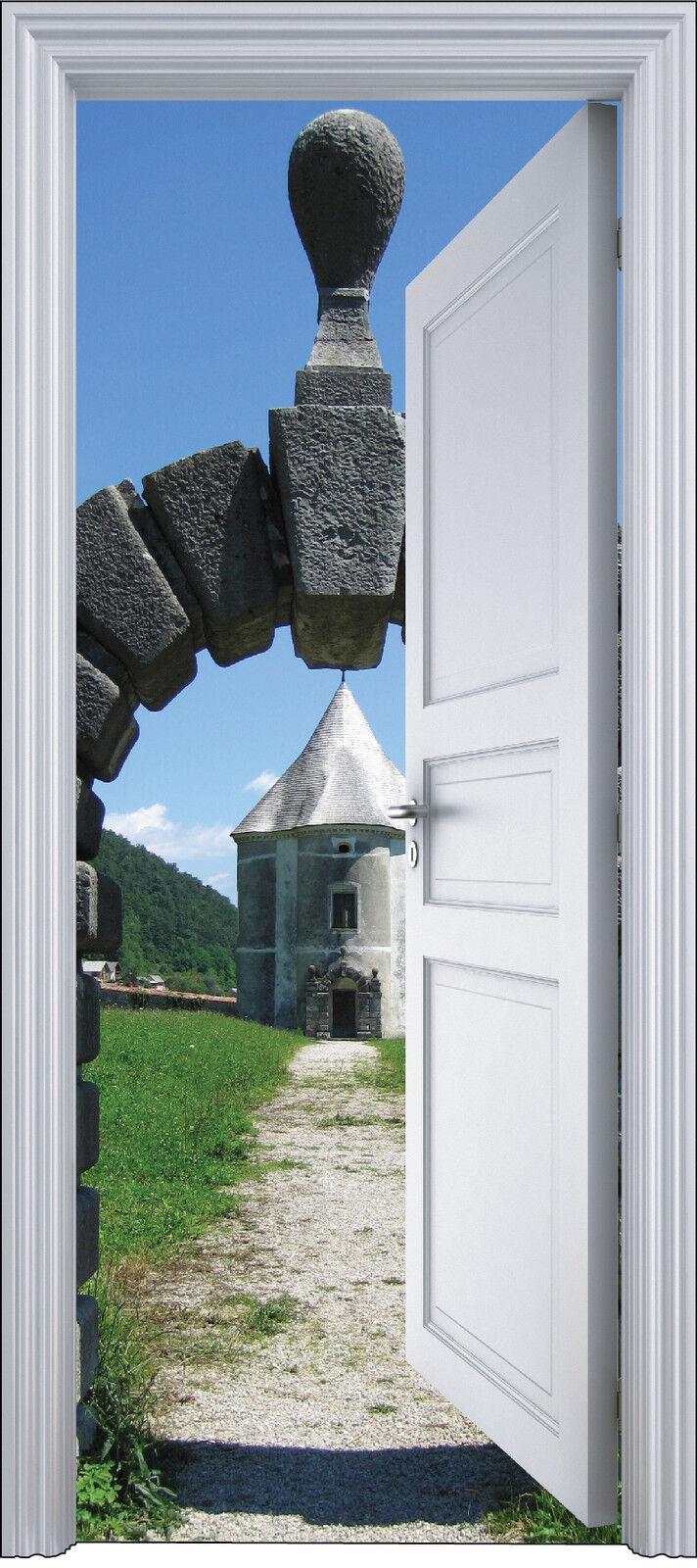 Aufkleber Tür Schein Auge Deko Moulin 90x200 cm Ref 2141