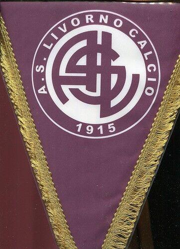 GAGLIARDETTO A. S.  LIVORNO CALCIO 1915 = AUTOGRAFATO