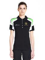 Automobili Lamborghini Squadra Corse Women's Polo Shirt, Black