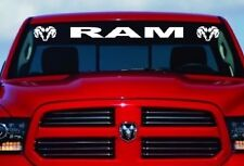 "DODGE RAM HEAD LOGO Windshield Vinyl Decal Sticker Custom 40"" Vehicle Graphics"
