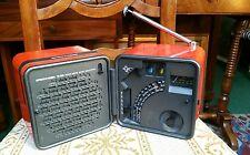 RADIO VINTAGE cubo BRIONVEGA TS 505 arancione  Marco Zanuso design anni 70