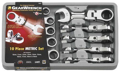Kd Tools EHT9550 10 pièces métriques Stubby Flex Gearwrench Set