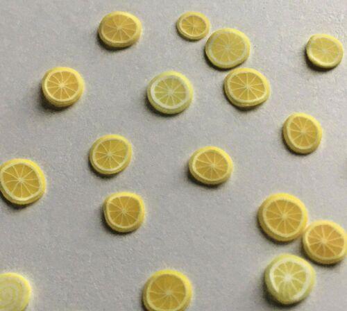 15 pc Miniature Dollhouse Lemon Fruit Slices Mini Food Tiny Food Lot