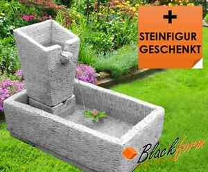 steinbrunnen gartenbrunnen brunnen luna mit pumpe und becken blackform ebay. Black Bedroom Furniture Sets. Home Design Ideas