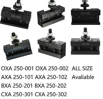 T0065 Set 3 BXA #2 QUICK CHANGE TURNING FACING /& BORING TOOL POST HOLDER 250-202