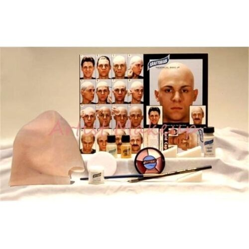 Graftobian Latex Bald Cap Complete Kit Full Color Instructions Theater Halloween