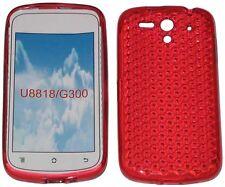 Patrón de TPU Gel suave Caso Protector Cubierta Roja para Huawei Ascend U8818 U8815 G300