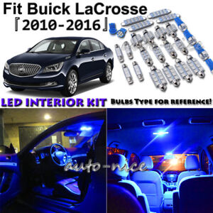 Details About 17x Blue Led Interior Lights Package Kit For 2010 2017 2016 Buick Lacrosse