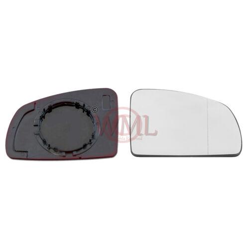 VAUXHALL MERIVA 03-/>09 DOOR MIRROR GLASS SILVERASPHERIC,NONHEATED/&BASE RIGHTSIDE