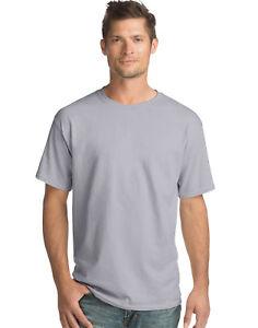 4436e24960eb Hanes Men Crew neck T-Shirt 4-Pack ComfortSoft 100% Cotton ...