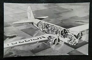 """1933 """"THREE-MILE-A-MINUTE TWIN WASP ENGINES"""" UNITED AIR LINE BOEING 247 POSTCARD"""