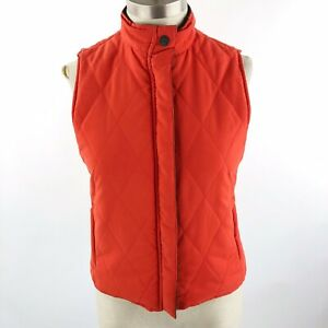Lauren-Ralph-Lauren-Women-039-s-Size-P-P-Reversible-Puffer-Vest-Orange-Green