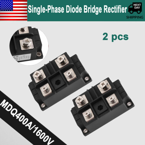 2 pcs Single Phase Diode Bridge Rectifier 400A Amp 1600V High Power 4 Terminals