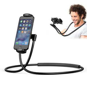 Lazy-Hang-Neck-Phone-Stand-Mount-Necklace-Support-Holder-iPhone-Samsung-LOT