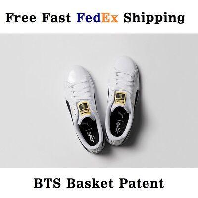 PUMA X BTS Basket Patent Sneakers