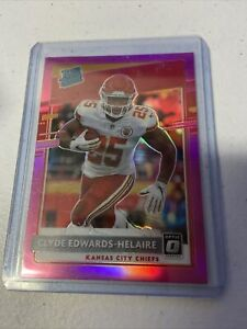 Clyde Edwards-Helaire 2020 Donruss PINK Optic Prizm Preview Rated Rookie Chiefs