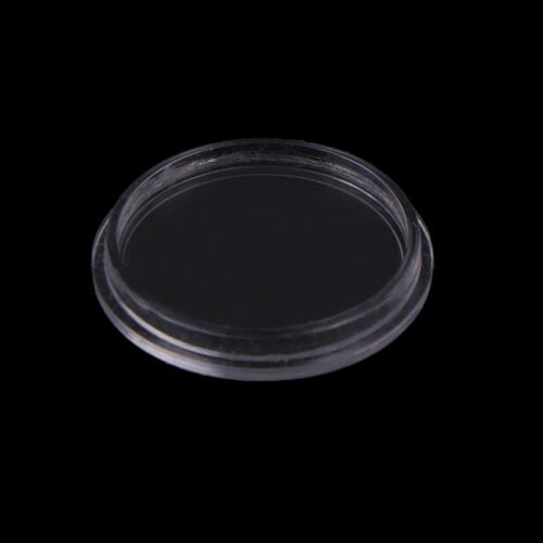 10Pcs 18mm plastic round applied clear cases coin storage capsules holde RKCA