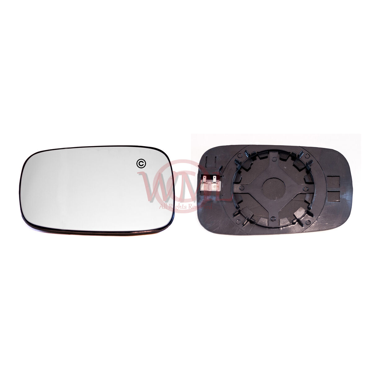 SUZUKI SWIFT 2005-/>2009 DOOR//WING MIRROR GLASS SILVER,HEATED /& BASE RIGHT SIDE