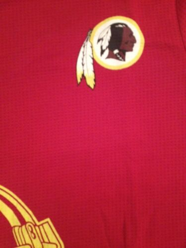 NFL Washington Redskins Boy Waffle Long Sleeve Shirt Size S M L 8 10 12 14 16