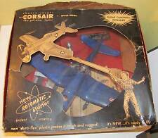 Late '50s Wen-Mac Marine Corsair Gas Powered Model Plane w/Box