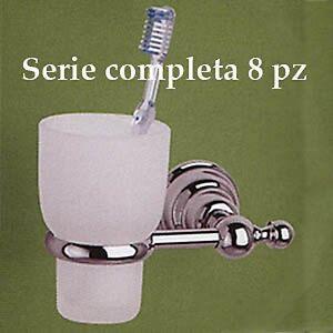 Serie Completa Accessori Bagno.Dettagli Su Set Accessori Bagno Canova In Ottone Cromato E Vetro Satinato Da 8 Pz