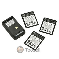 New External Battery Charger +3 Batteries For Samsung Galaxy SIII S3 i9300 US